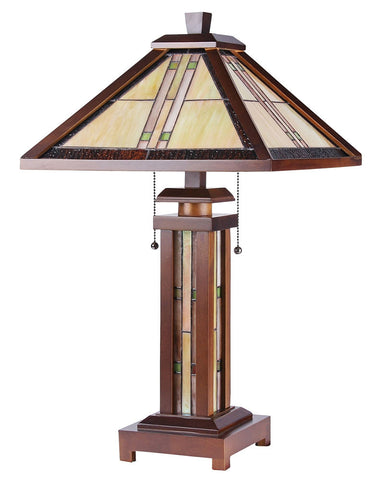 Arts & Crafts Earle Stained Glass Table Lamp 2