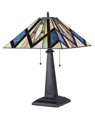 Arts & Crafts Bedivere Stained Glass Table Lamp 2