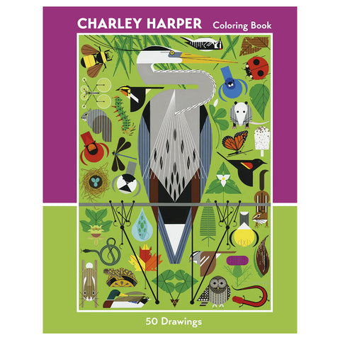 Charley Harper Coloring Book 50 Drawings