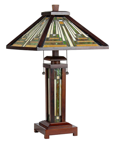 Arts & Crafts Innes Double Lit Table Lamp (no light)