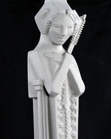 Frank Lloyd Wright Tabletop Sprite with Sceptre (closeup)