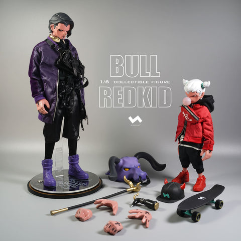 Bull and RedKid by J.T. Studio