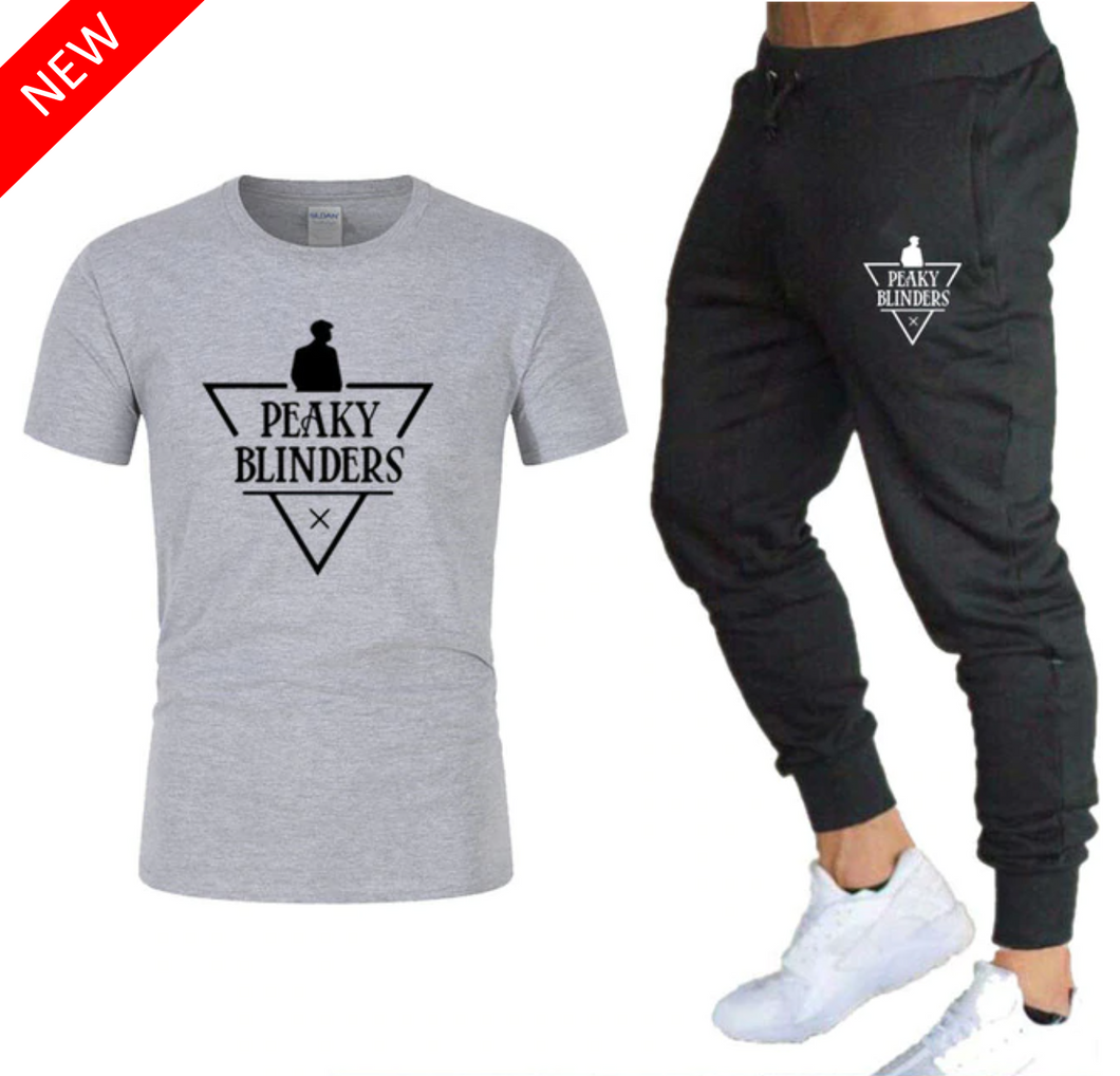 T-Shirt et Jogging Peaky Blinders - Grey Edition
