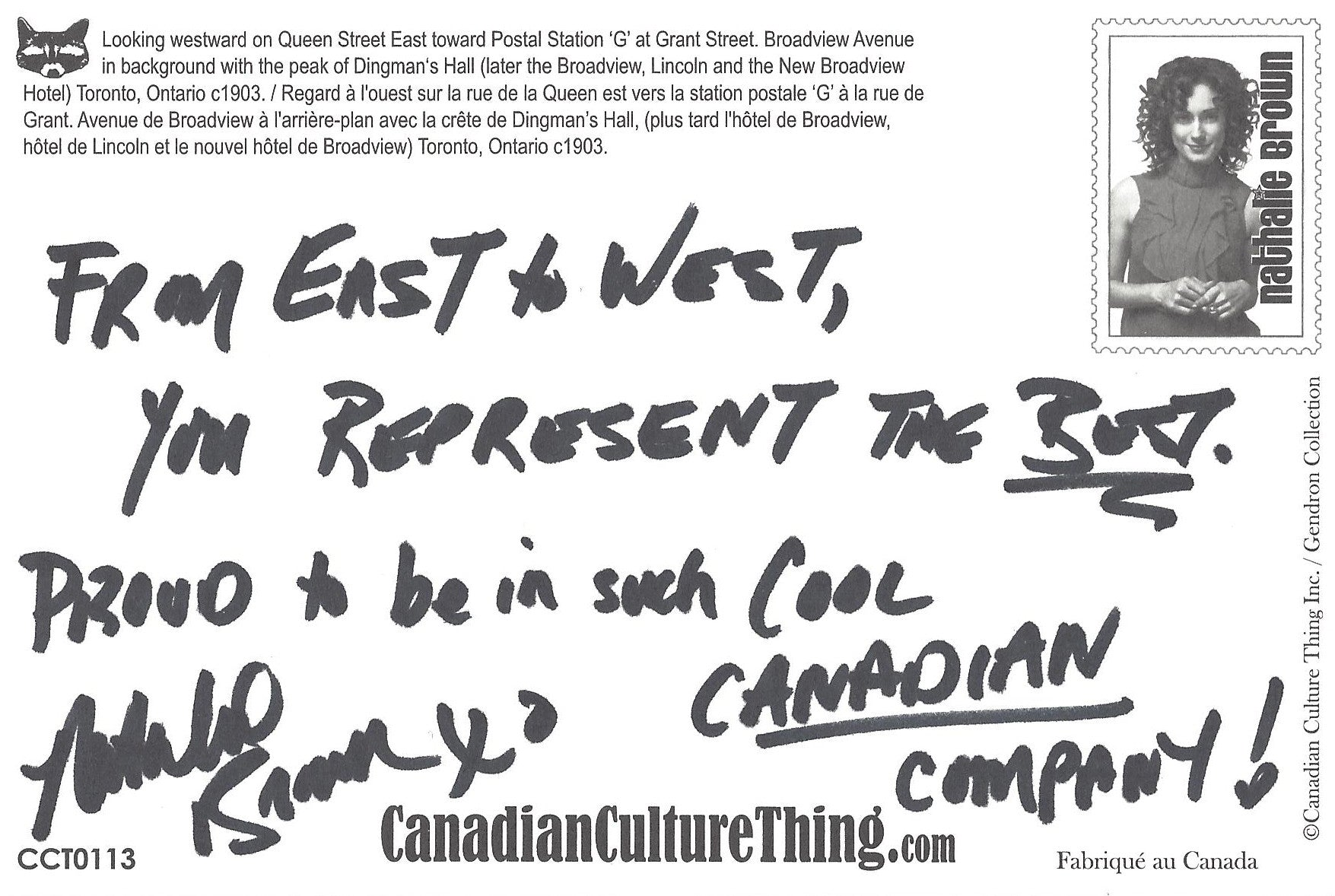 Canadian Culture Thing postcard CCT0113