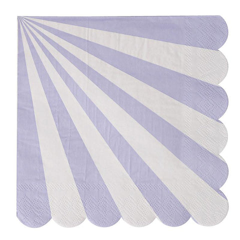 SALE- Meri Meri Lavender Fan Stripe Napkins (small)
