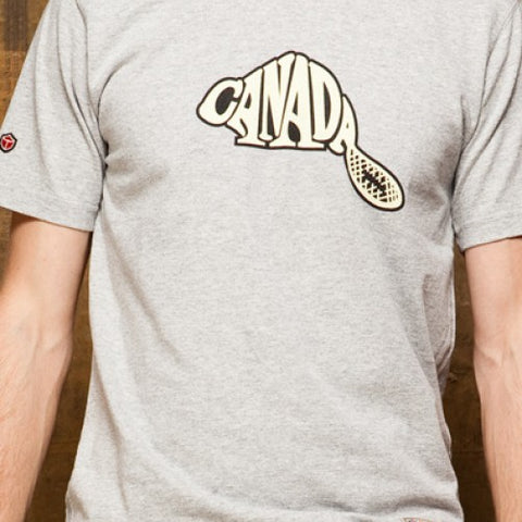 SALE-Red Canoe Men's Canada Beaver T-Shirt