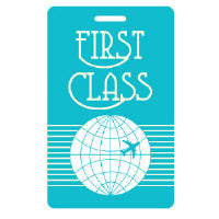 SALE-Luggage Tag - First Class