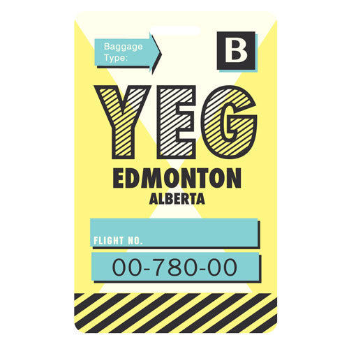 SALE-Luggage Tag - Edmonton, Alberta - YEG
