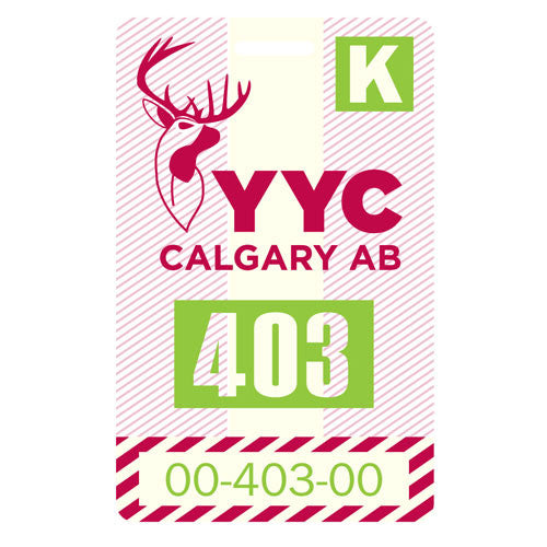 SALE-Luggage Tag - Calgary, Alberta - YYC