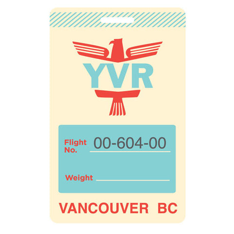 SALE-Luggage Tag - Vancouver, British Columbia - YVR