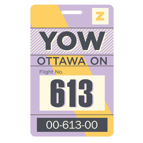 SALE-Luggage Tag - Ottawa, Ontario - YOW