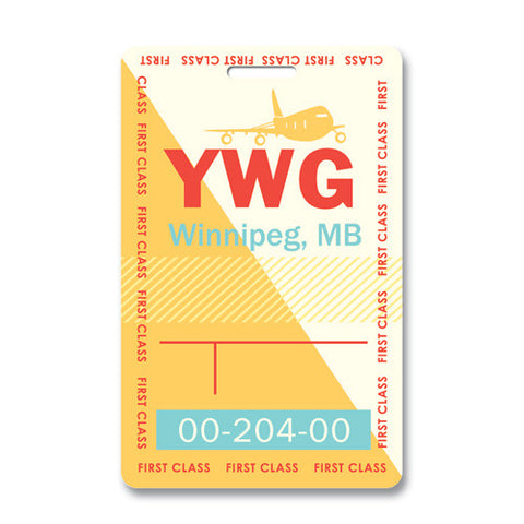 Luggage Tag - Winnipeg, Manitoba YWG