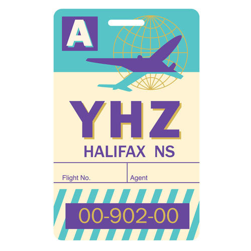 SALE-Luggage Tag - Halifax, Nova Scotia - YHZ