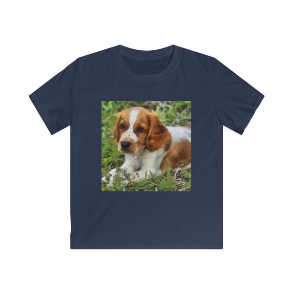 Welsh Springer Spaniel Kids Ringspun Cotton Tee