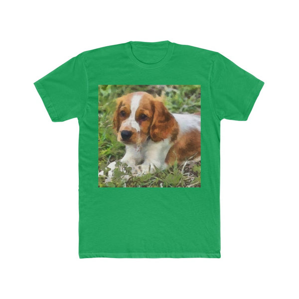 Welsh Springer Spaniel Men's Fitted Cotton Crew Tee