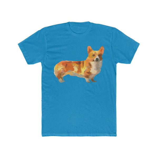 Pembroke Welsh Corgie Men's Fitted Cotton Crew Tee
