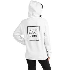 Assigned Fabulous At Birth AFAB Positivity White Hoodie - EnbyTee
