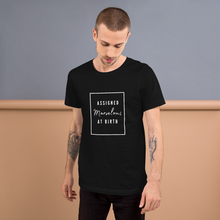 Load image into Gallery viewer, Assigned Marvelous At Birth AMAB Positivity Black T-Shirt - EnbyTee