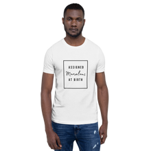 Load image into Gallery viewer, Assigned Marvelous At Birth AMAB Positivity White T-Shirt - EnbyTee