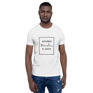 Assigned Marvelous At Birth AMAB Positivity White T-Shirt - EnbyTee