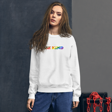 Load image into Gallery viewer, Be Kind Simple Pride Sweatshirt