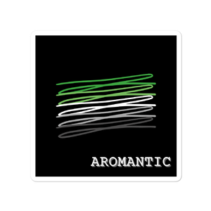 Chaotic Aromantic Flag Stickers