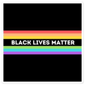 Black Lives Matter Rainbow Stickers  | ThisIsTheirs