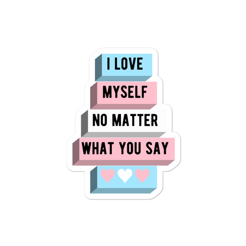 I Love Myself Trans Pride Stickers  | ThisIsTheirs