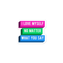 Load image into Gallery viewer, I Love Myself Polysexual Pride Stickers | ThisIsTheirs