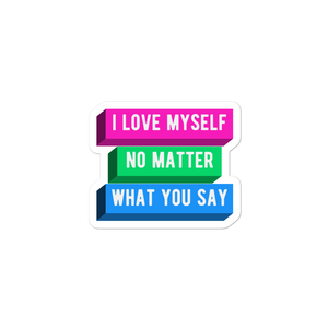 I Love Myself Polysexual Pride Stickers | ThisIsTheirs