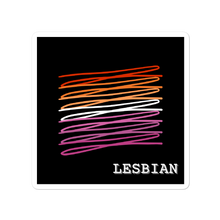 Load image into Gallery viewer, Chaotic Lesbian Flag Stickers