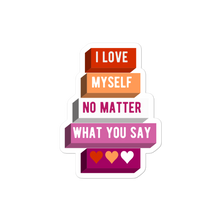 Load image into Gallery viewer, I Love Myself Lesbian Pride Stickers | ThisIsTheirs