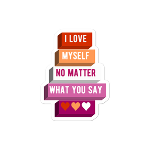 I Love Myself Lesbian Pride Stickers | ThisIsTheirs