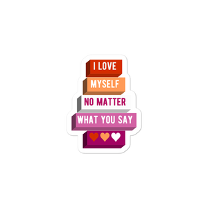 I Love Myself Lesbian Stickers | ThisIsTheirs