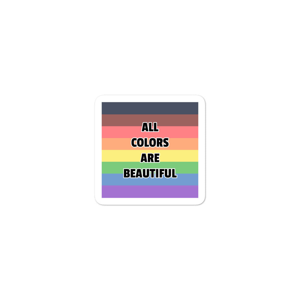 All Colors Are Beautiful LGBTQ Pride Stickers