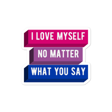 Load image into Gallery viewer, I Love Myself Bi Pride Stickers | This Is Theirs
