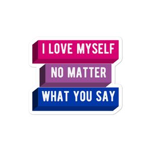 I Love Myself Bi Pride Stickers | This Is Theirs
