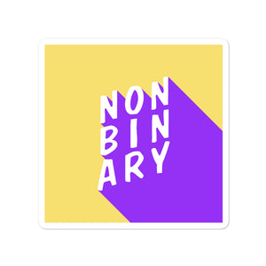 Non-Binary Pride Stickers - EnbyTee