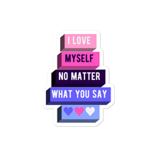 Load image into Gallery viewer, I Love Myself Omnisexual Pride Stickers | ThisIsTheirs