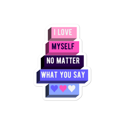 I Love Myself Omnisexual Pride Stickers | ThisIsTheirs