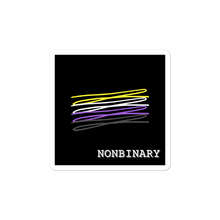 Load image into Gallery viewer, Chaotic Nonbinary Flag Stickers