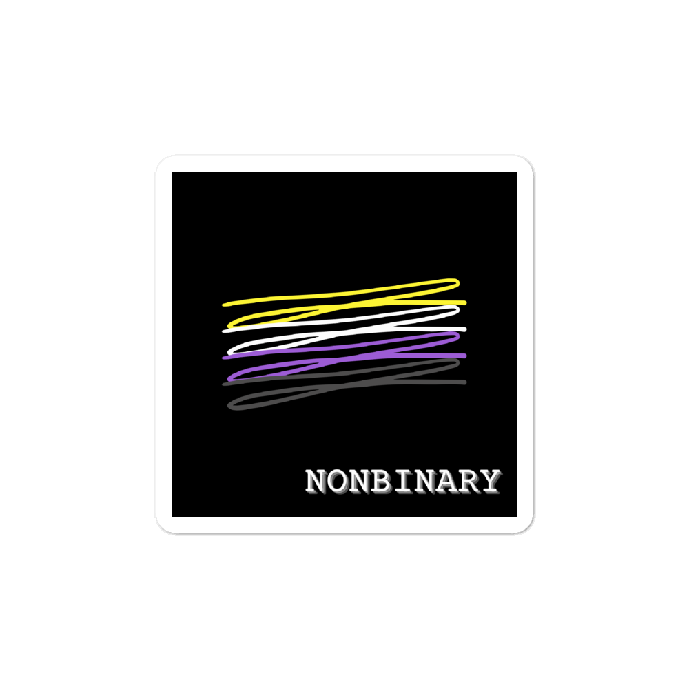 Chaotic Nonbinary Flag Stickers