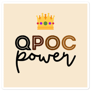 QPOC Power LGBTQ Beige Stickers