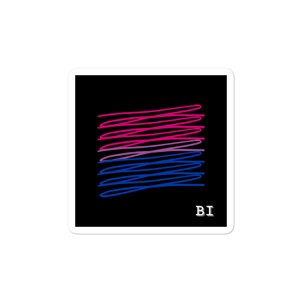 Chaotic Bi Flag Stickers