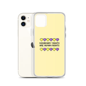 Nonbinary Rights Are Human Rights iPhone Case