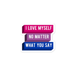 I Love Myself Bisexual Pride Stickers | This Is Theirs