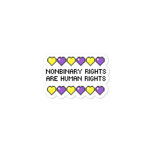 Nonbinary Rights Are Human Rights Stickers - EnbyTee
