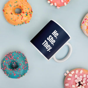 He She They Gender Inclusive Mug - EnbyTee