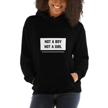 Load image into Gallery viewer, Not A Boy Not A Girl Black Hoodie | ThisIsTheirs
