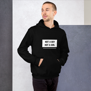 Not A Boy Not A Girl Black Hoodie | ThisIsTheirs